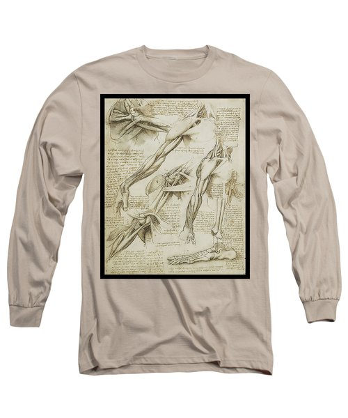 Long Sleeve T-Shirt featuring the painting Human Arm Study by James Christopher Hill