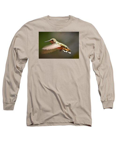 Hummingbird Facing Left Long Sleeve T-Shirt