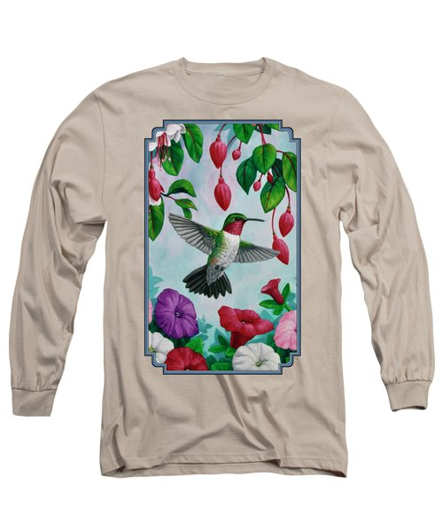 Hummingbird Greeting Card 2 Long Sleeve T-Shirt