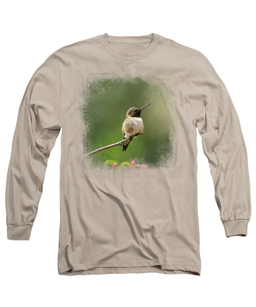 Hummingbird In The Garden Long Sleeve T-Shirt