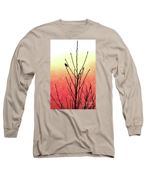 Hummingbird Peach Tree Long Sleeve T-Shirt