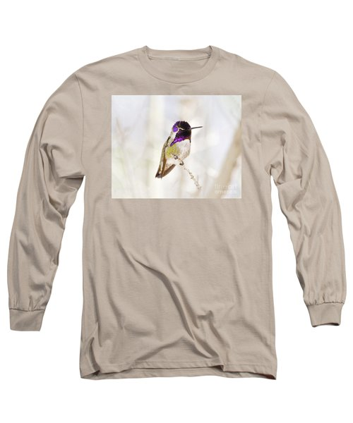 Hummingbird Long Sleeve T-Shirt by Rebecca Margraf