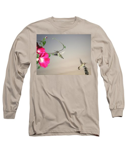 Long Sleeve T-Shirt featuring the photograph Hummingbirds Coming And Going by Joyce Dickens