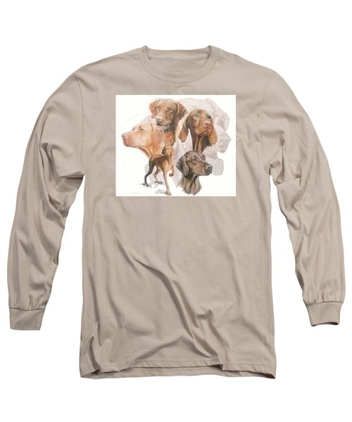 Hungarian Vizsla W/ghost Long Sleeve T-Shirt by Barbara Keith