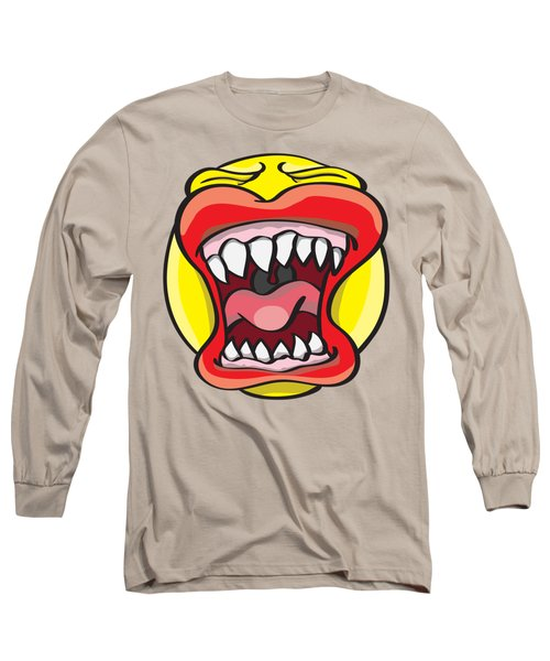 Hungry Pacman Long Sleeve T-Shirt by Jorgo Photography - Wall Art Gallery