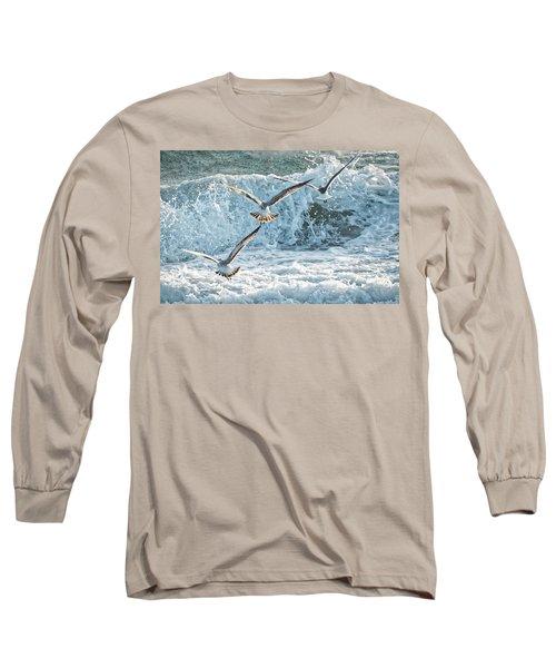 Hunting The Waves Long Sleeve T-Shirt