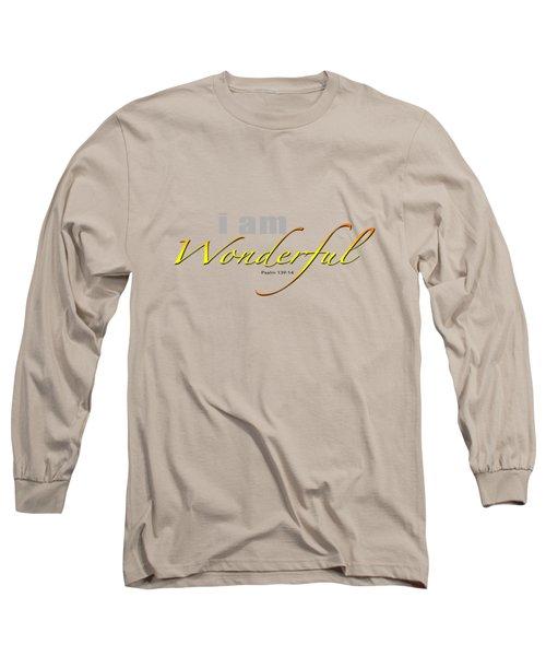i am Wonderful Long Sleeve T-Shirt
