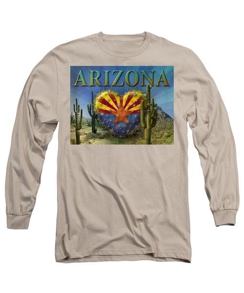 I Love Arizona Landscape Long Sleeve T-Shirt by James Larkin