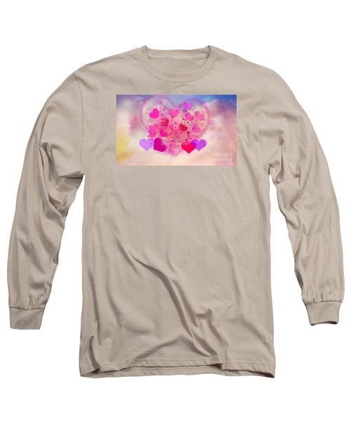 I Love You..happy Valentines Day Long Sleeve T-Shirt by Sherri's Of Palm Springs