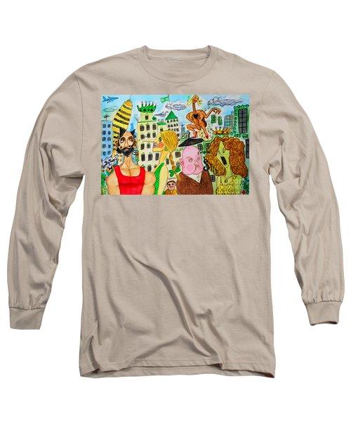 I Wanna Dineroh / I Wanna Money Long Sleeve T-Shirt by Don Pedro De Gracia