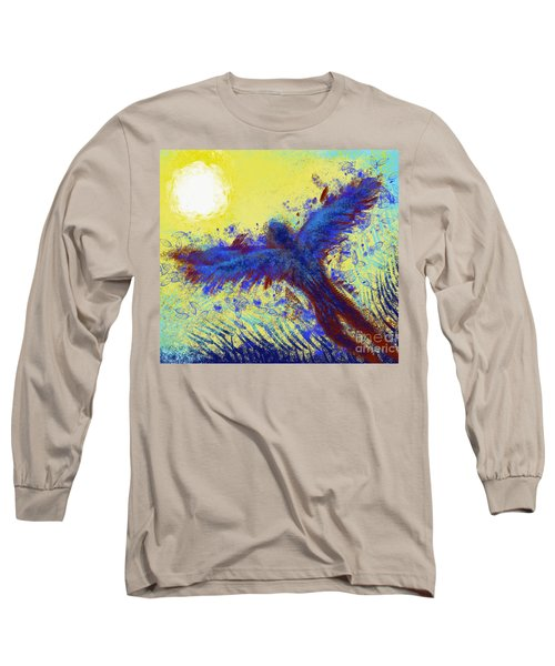 Long Sleeve T-Shirt featuring the digital art Icarus by Antonio Romero