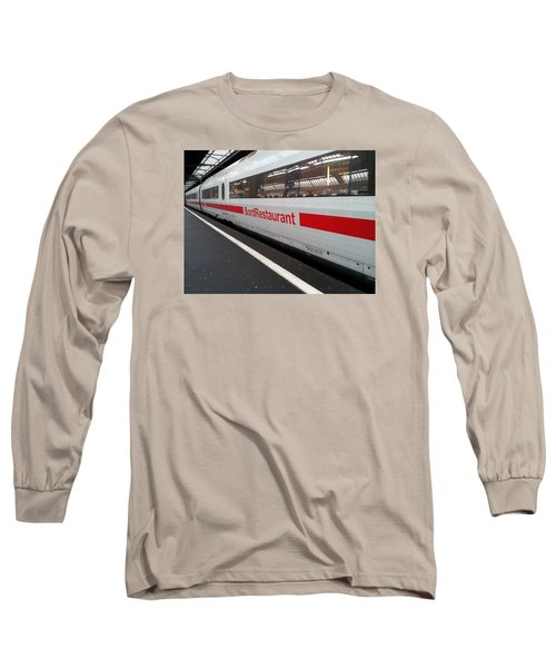 Ice Bord Restaurant At Zurich Mainstation Long Sleeve T-Shirt by Ernst Dittmar