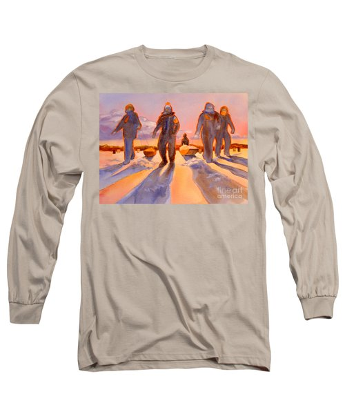 Ice Men Come Home Long Sleeve T-Shirt by Kathy Braud