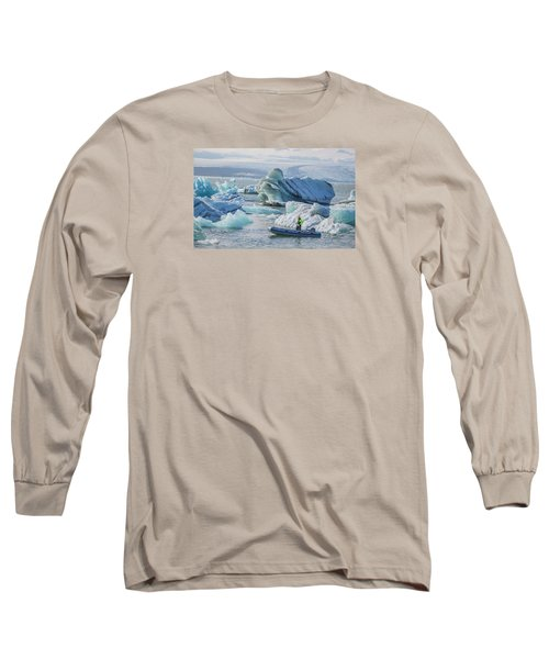 Icebergs On Jokulsarlon Lagoon In Iceland Long Sleeve T-Shirt