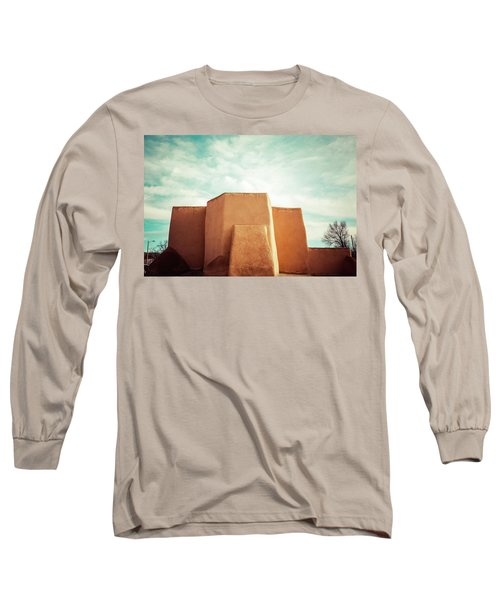 Long Sleeve T-Shirt featuring the photograph Iconic Church In Taos by Marilyn Hunt