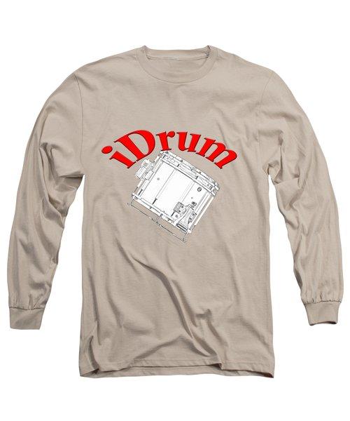 iDrum Long Sleeve T-Shirt by M K  Miller