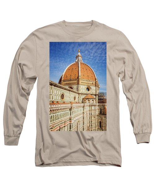 Long Sleeve T-Shirt featuring the photograph Il Duomo Florence Italy by Joan Carroll