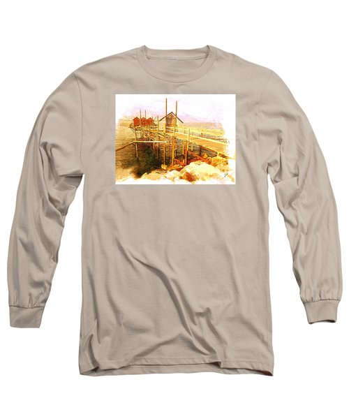 Il Grande Trabucco - Trebuchet Fishing Long Sleeve T-Shirt by Zedi