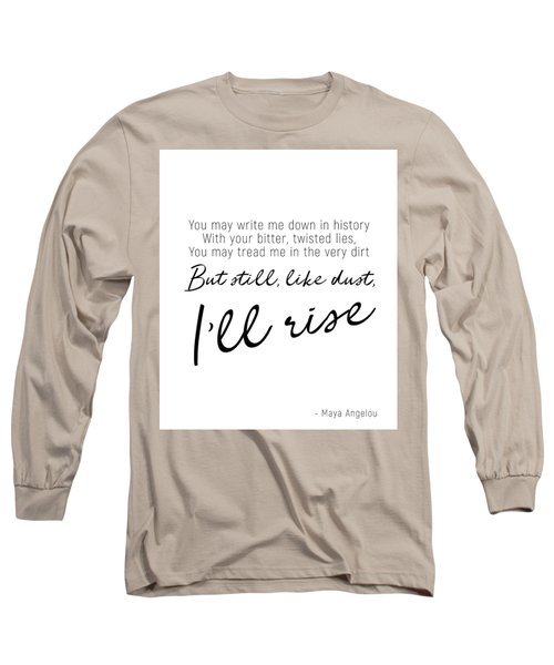 I'll Rise #minimalism Long Sleeve T-Shirt