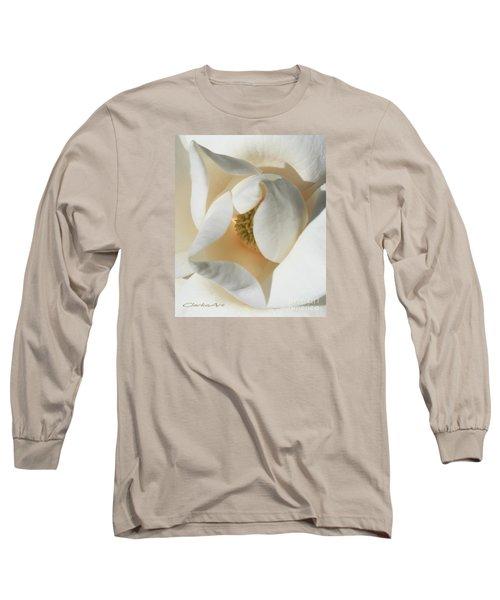 Illuminated Magnolia Macro Long Sleeve T-Shirt