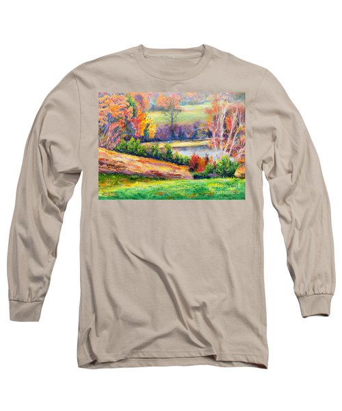 Illuminating Colors Of Fall Long Sleeve T-Shirt by Lee Nixon