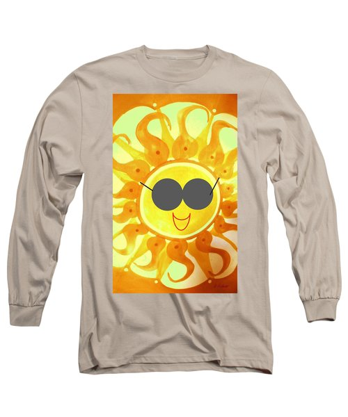 Long Sleeve T-Shirt featuring the painting I'm Too Hot For My Shades by Denise Fulmer