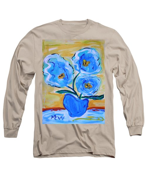 Imagine In Blue Long Sleeve T-Shirt