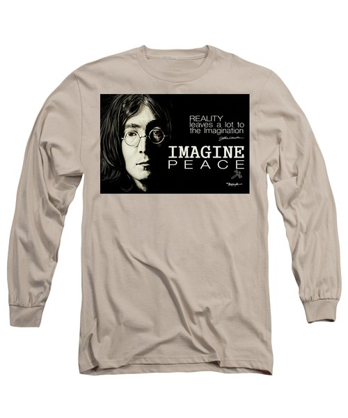 Imagine Peace- John Lennon Long Sleeve T-Shirt