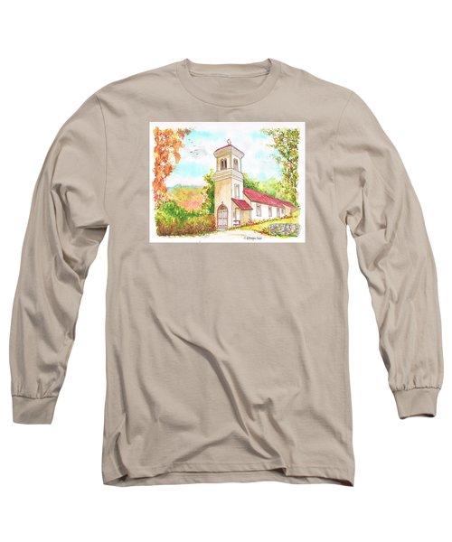 Immaculate Concepcion Catholic Church, Sierra Nevada, California Long Sleeve T-Shirt