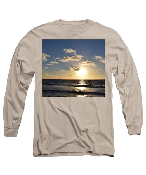 Sunset Reflection At Imperrial Beach Long Sleeve T-Shirt