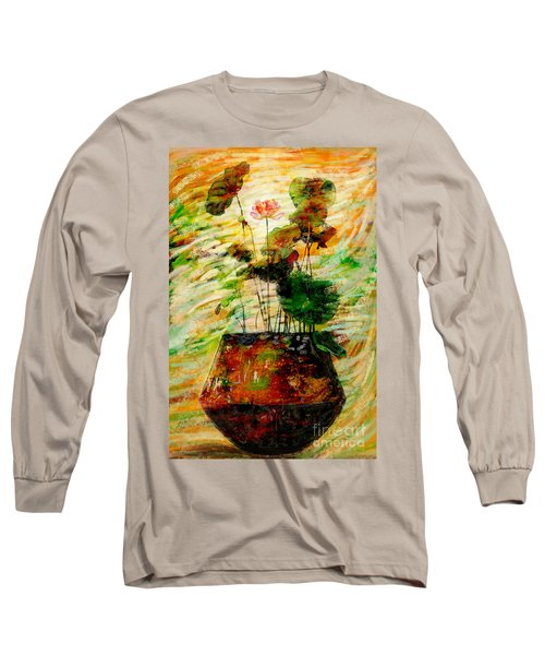Impression In Lotus Tree Long Sleeve T-Shirt