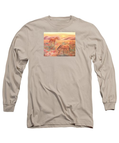 Impressions At Sunset Long Sleeve T-Shirt by Elizabeth Lock
