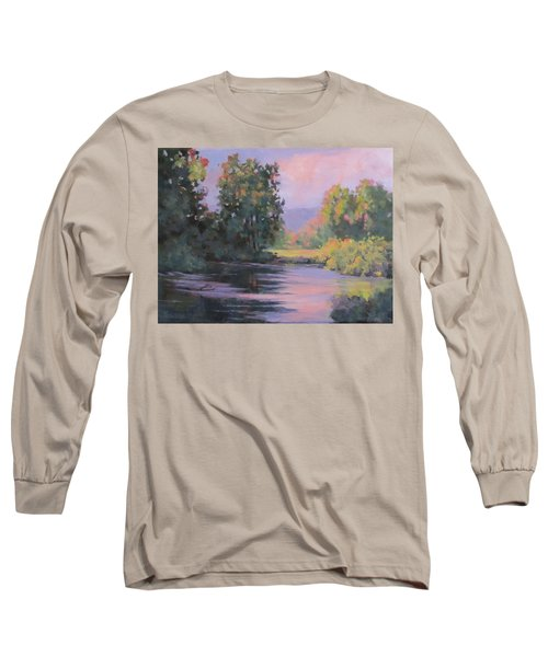 Long Sleeve T-Shirt featuring the painting In Another Light by Karen Ilari