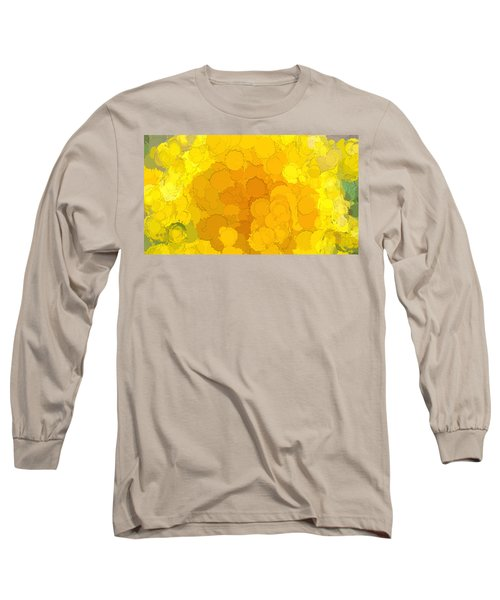 In Color Abstract 14 Long Sleeve T-Shirt by Cathy Anderson