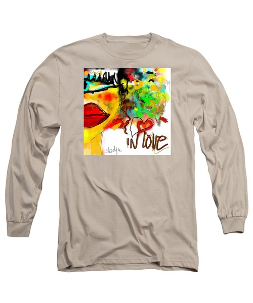 Long Sleeve T-Shirt featuring the digital art In Love  by Sladjana Lazarevic