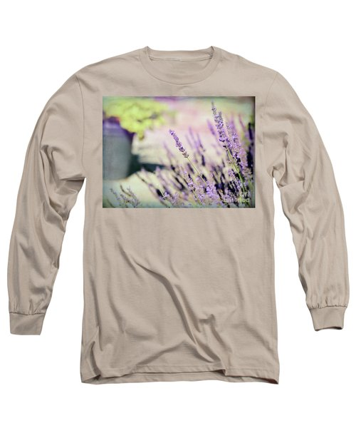 Long Sleeve T-Shirt featuring the photograph In Love With Lavender by Kerri Farley