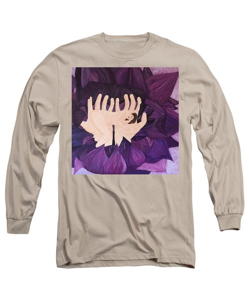 In Loving Hands Long Sleeve T-Shirt by Cheryl Bailey