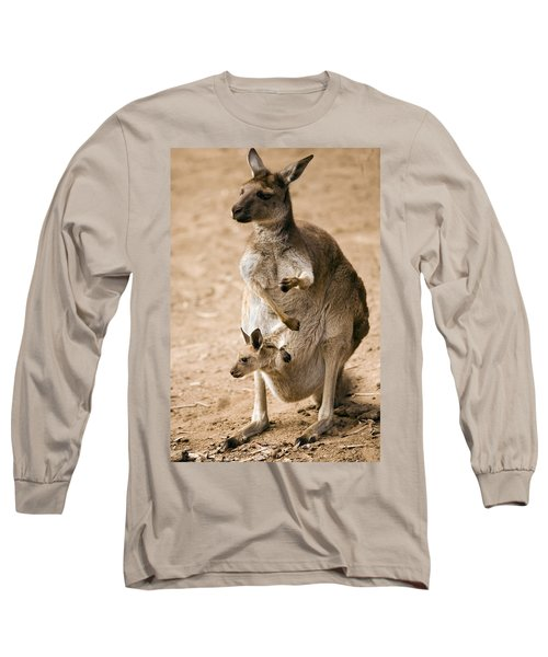In  Mother's Care Long Sleeve T-Shirt by Mike  Dawson