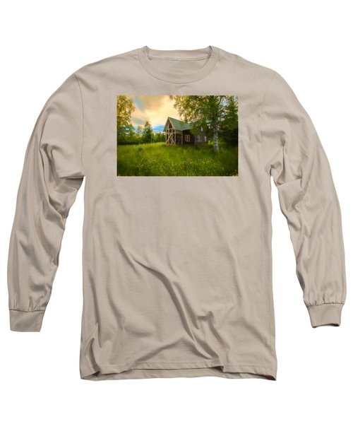 Long Sleeve T-Shirt featuring the photograph In Peace In Your Grace by Rose-Maries Pictures