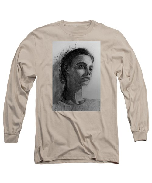 Long Sleeve T-Shirt featuring the painting In This Silence I Believe by Jarko Aka Lui Grande