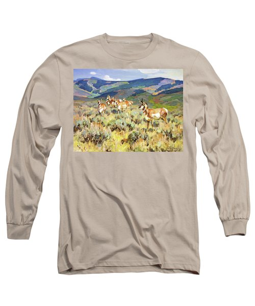 In The Foothills - Antelope Long Sleeve T-Shirt