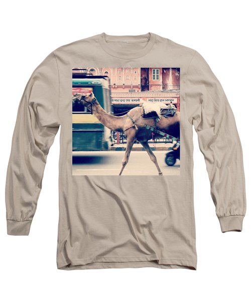 India - Where Even The Camels Overtake Long Sleeve T-Shirt