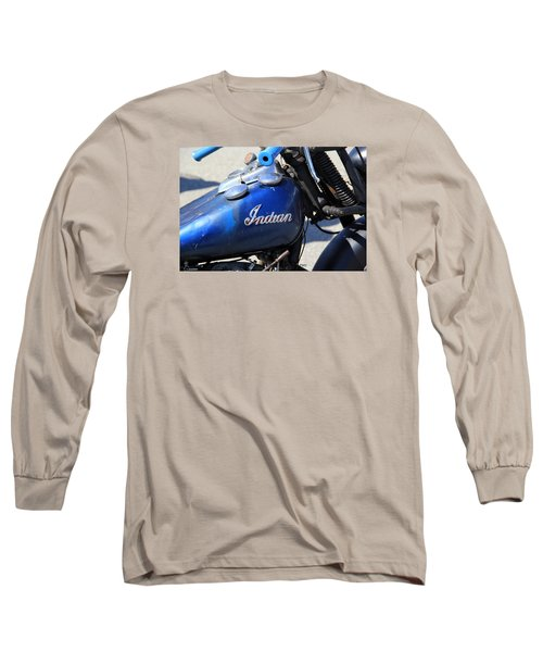Indian Blue Long Sleeve T-Shirt
