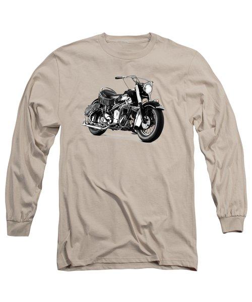 Indian Chief Roadmaster 1953 Long Sleeve T-Shirt by Mark Rogan