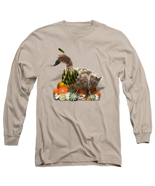 Indian Duck Long Sleeve T-Shirt by Gravityx9 Designs