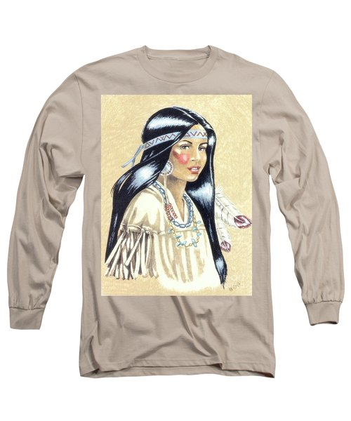 Indian Girl Long Sleeve T-Shirt