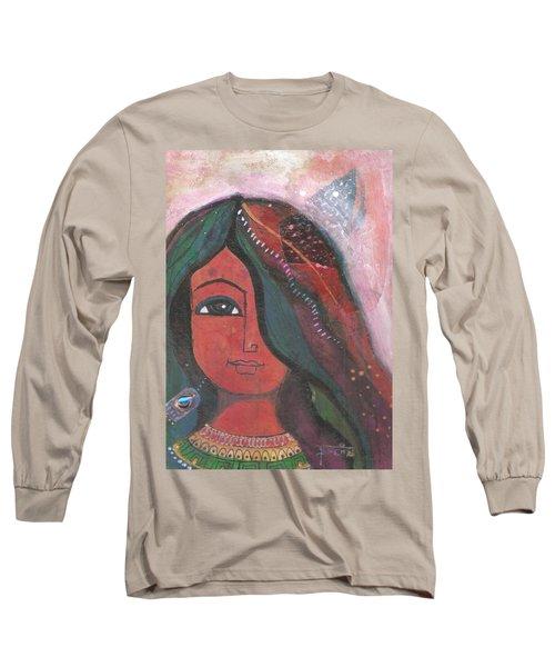 Indian Rajasthani Woman Long Sleeve T-Shirt