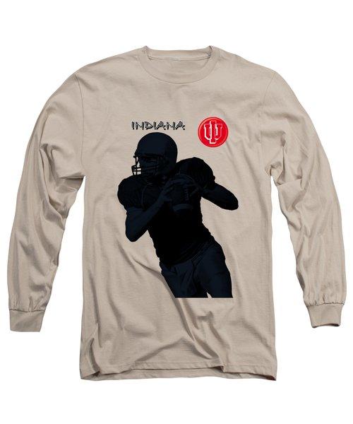 Long Sleeve T-Shirt featuring the digital art Indiana Football by David Dehner