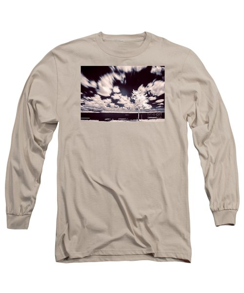 Infrared Lake Long Sleeve T-Shirt by Odon Czintos