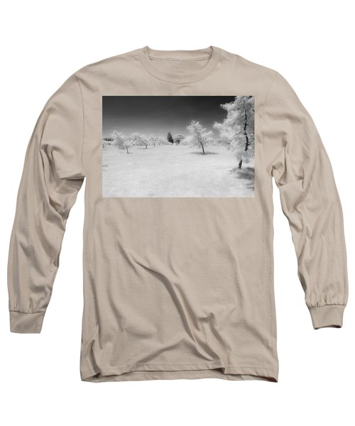 Infrared Peach Orchard Long Sleeve T-Shirt